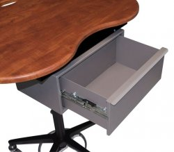 Under Kidney Table Med Drawer