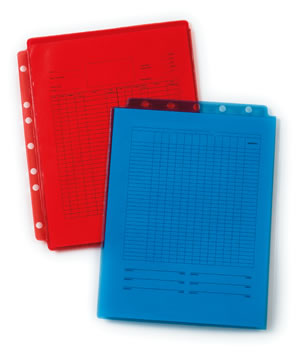 Sheet Protectors Full Page Top Load Red 2301 Red