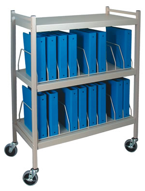 "Economy Mobile Chart Rack For 4"" Ringbinders 16 Capacity"