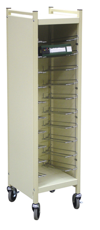 "Cabinet Style Flat Storage Rack For 4"" Ringbinders 8 Capacity"